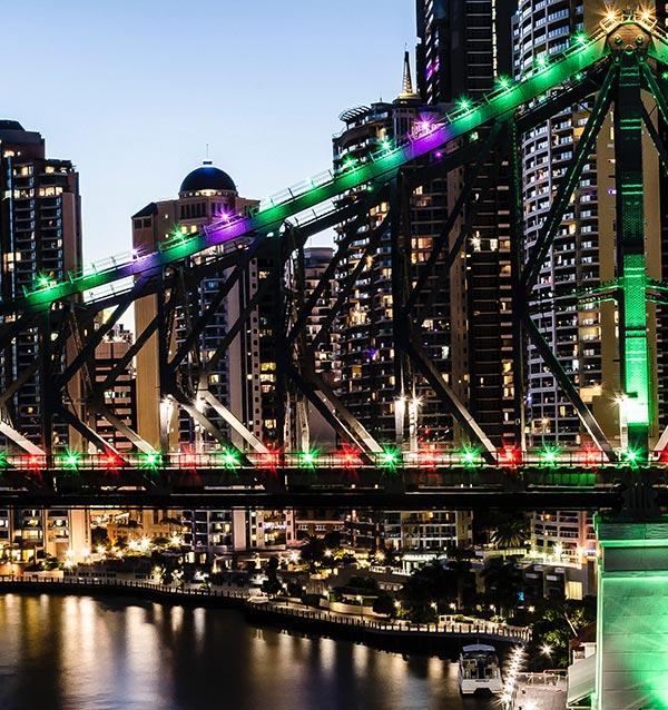 Story Bridge Brisbane Christmas Lights